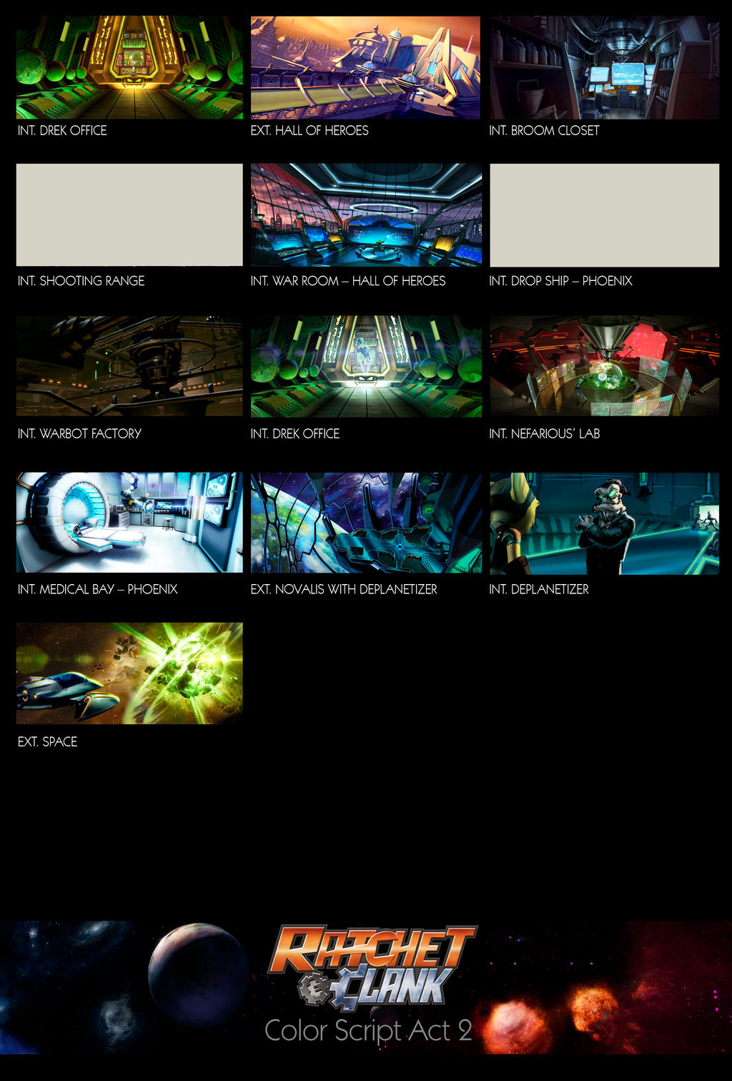 ratchet and clank act 2 color script by tonywash on deviantart