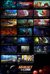 Ratchet and Clank Act 1 Color Script by Tonywashingtonart