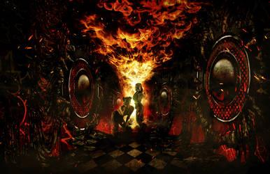 Magma Chamber VR - Hallway Concept Art 2 by Tonywashingtonart