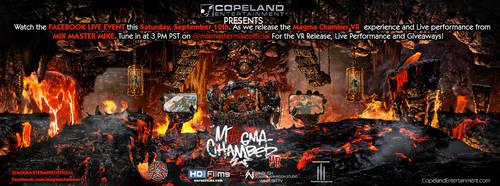 Magma Chamber VR - Live Stream Poster by Tonywashingtonart