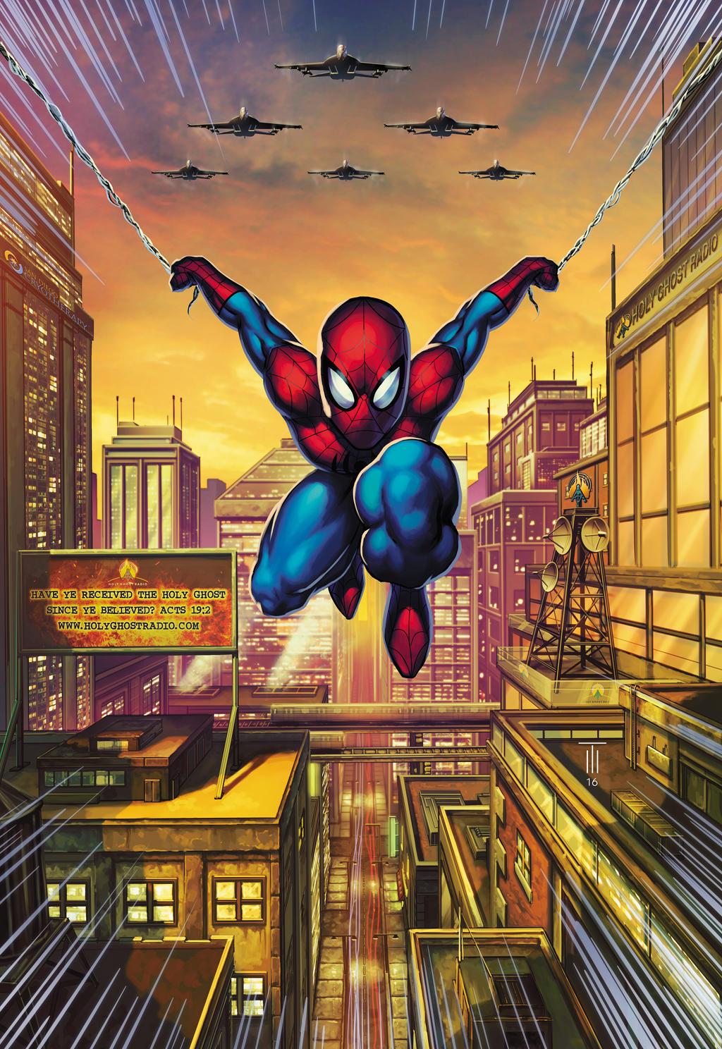 SpiderMan Gift Commission by Tonywashingtonart