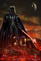 Darth Vader (Commission) by Tonywashingtonart