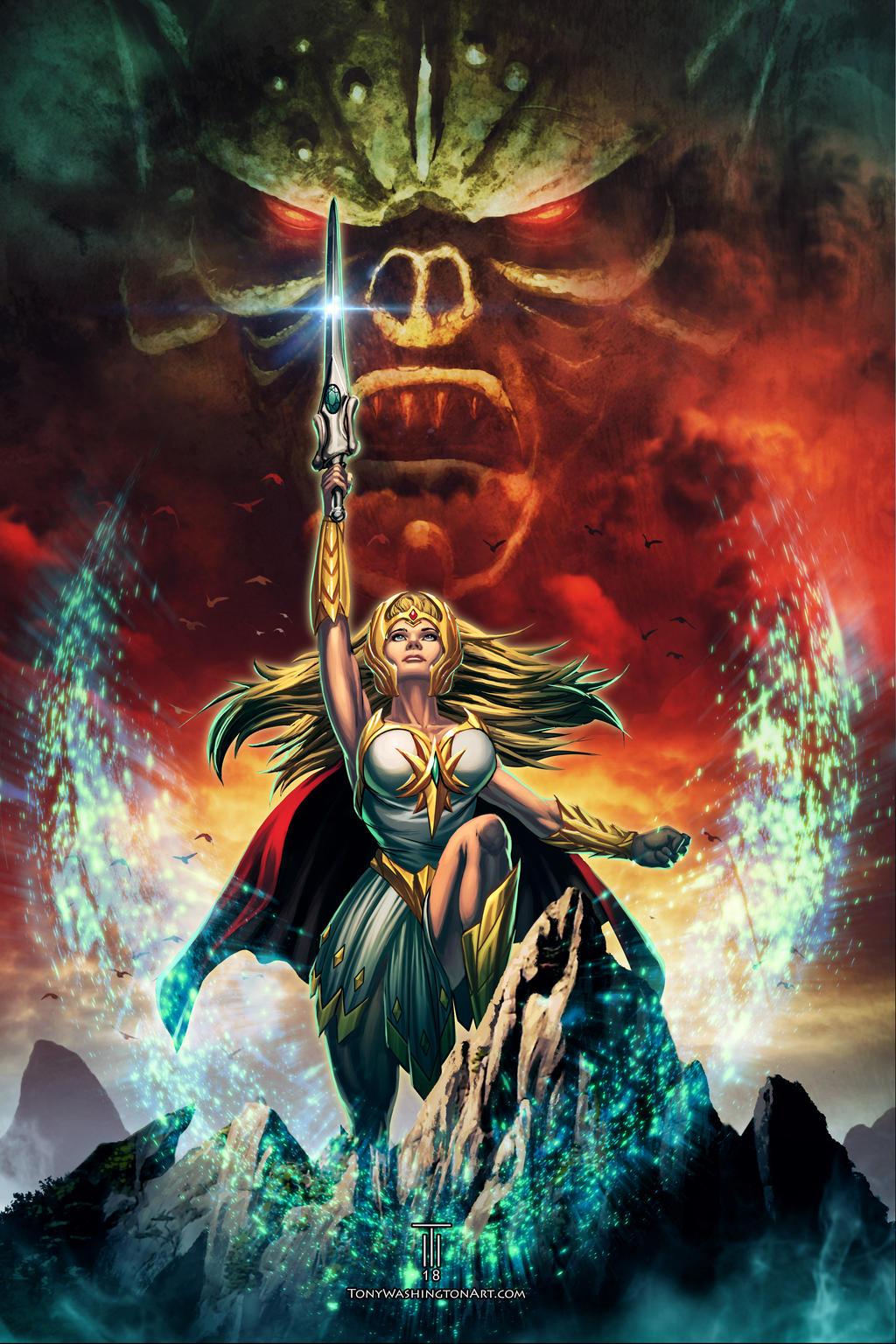 Power Con 2018 She-Ra Poster by Tonywashingtonart