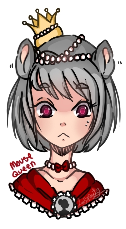 Redrawn - Mouse queen by LadySpiderlily