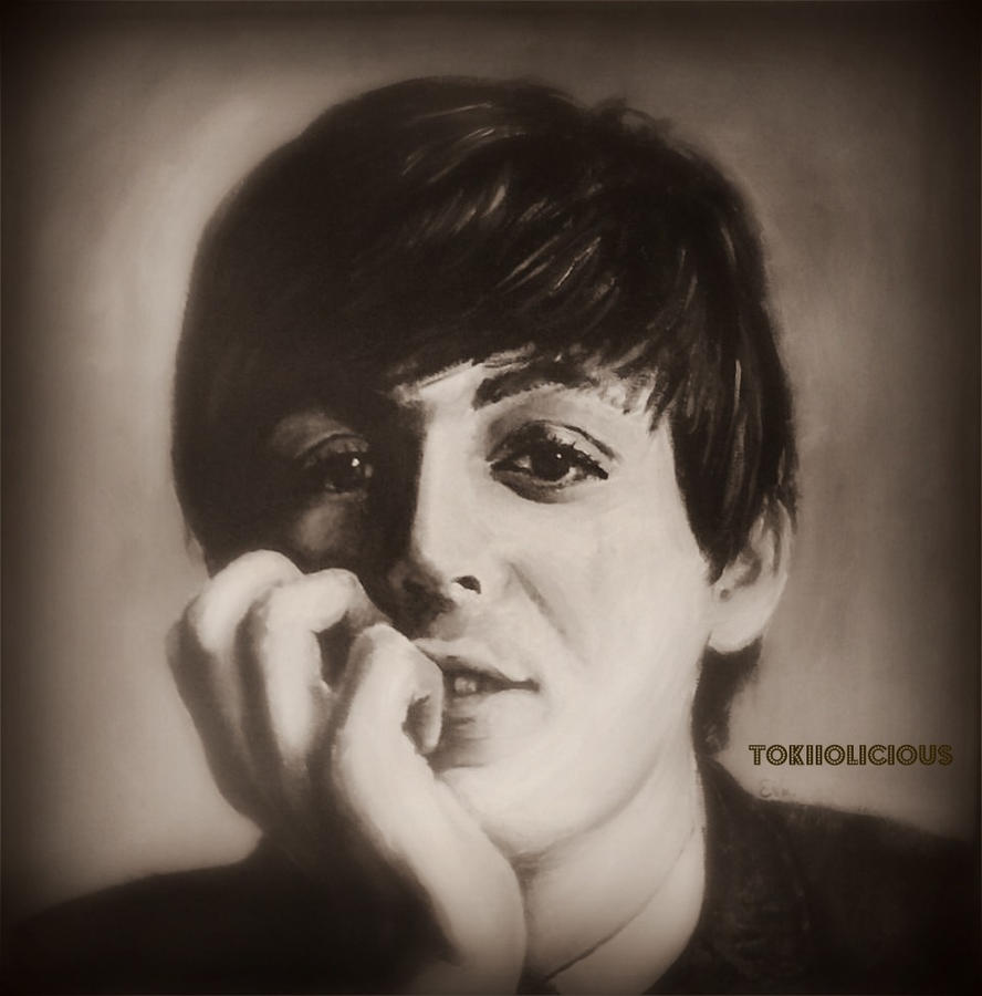paul mccartney painting by tokiiolicious. Black Bedroom Furniture Sets. Home Design Ideas