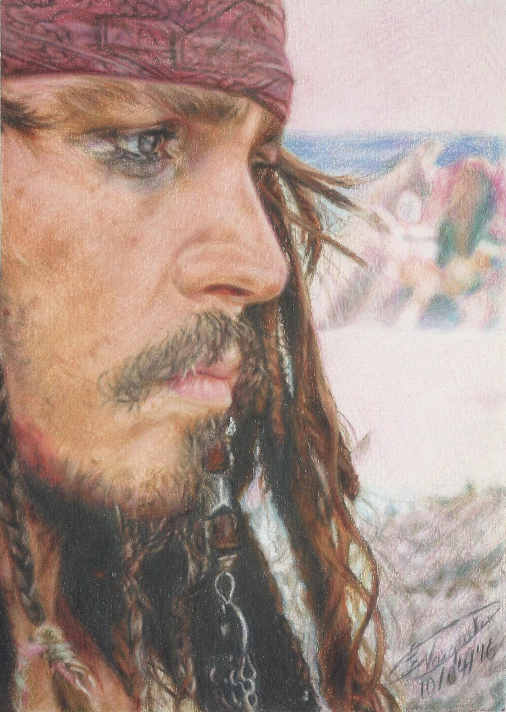 Captain Jack Sparrow (Drawing) by Tokiiolicious