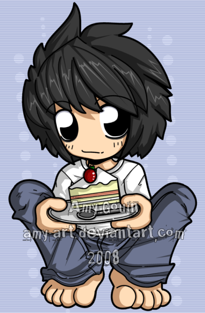 Cake Art By Amy : L - Death Note mmm cake by amy-art on DeviantArt