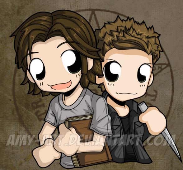 Sam And Dean Supernatural By Amy Art On Deviantart