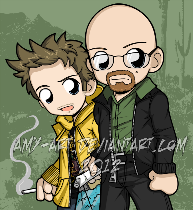 Is The Walking Dead A Sequel To Breaking Bad Youtube: Walter And Jesse By Amy-art On DeviantArt