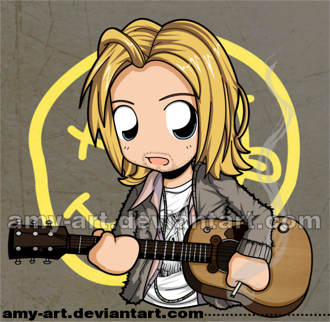 Kurt Cobain - Nirvana - Commission by amy-art