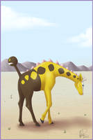 Girafarig desertresed by twapa