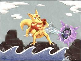 Kadabra vs. Cloyster by twapa