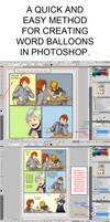 Word Balloon Tutorial - Photoshop CS5