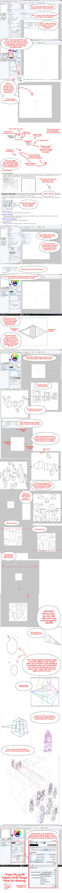 Clip Studio Paint Perspective Ruler Tutorial! by twapa