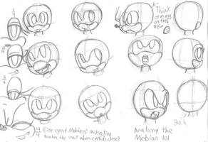 Sonic Head Direction and Eyes by TwilightMoon1996