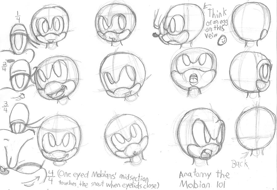 Sonic Head Direction and Eyes