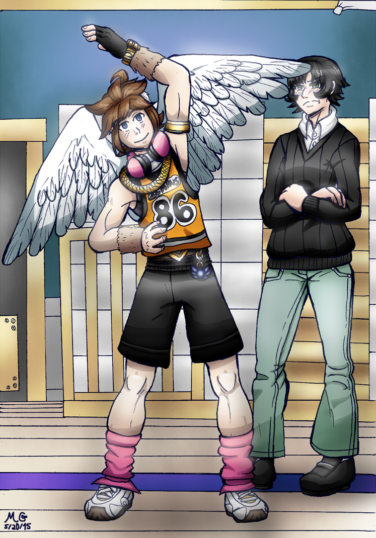 :CE: Modern Pit and Idolah by TwilightMoon1996