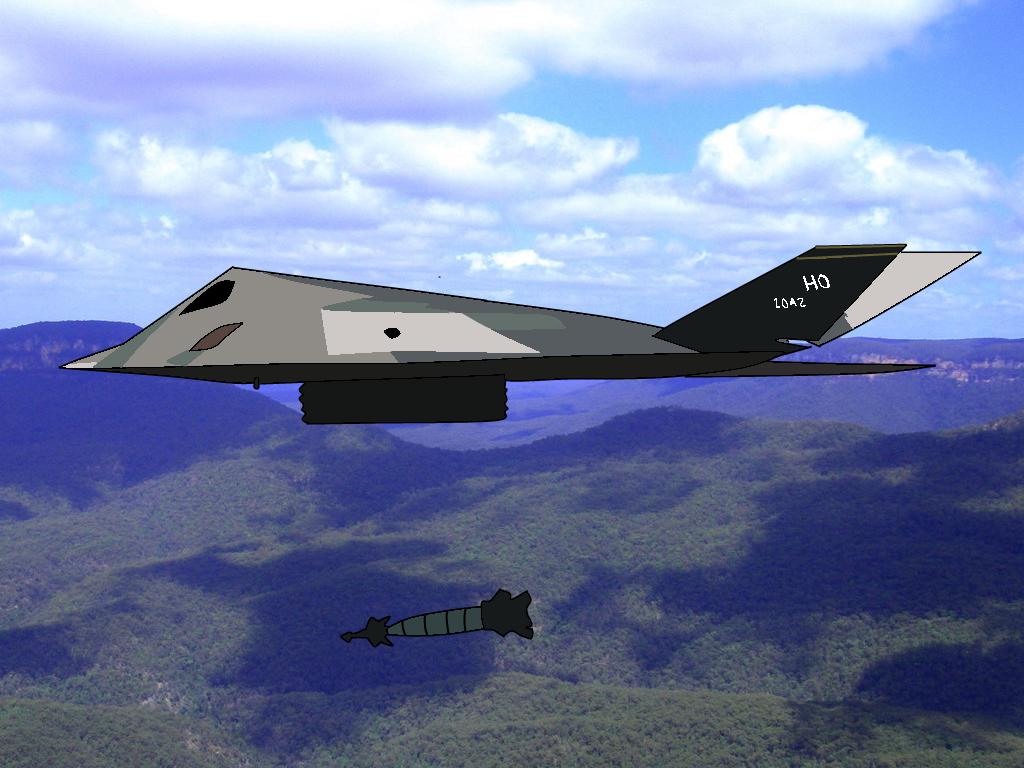 F 117 Nighthawk At Night F117 Nighthawk by gour...