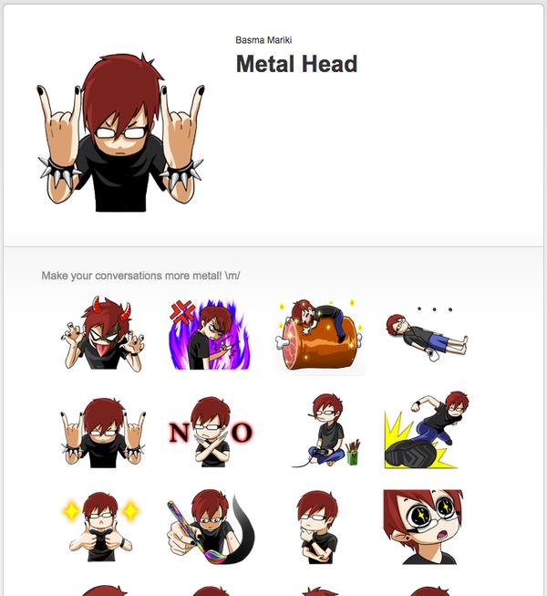 [LINE] Metal Head stickers by Basmariki