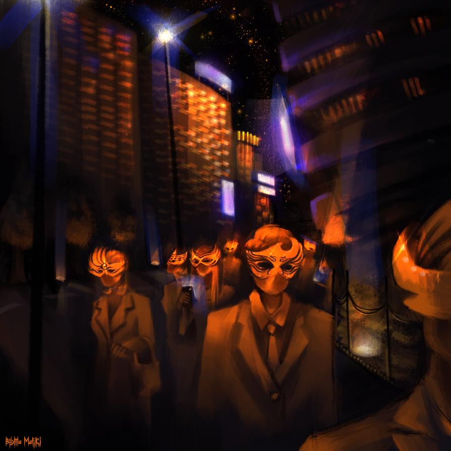 Masquerading Crowd by Basmariki