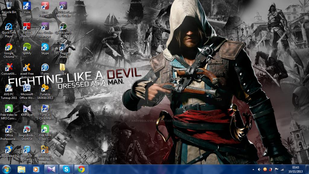 Assassins Creed 4 Black Flag Desktop Wallpaper By Andybsglove