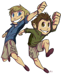 ChibiCom- Kratt Bros by ElectricEidolon
