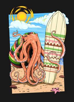 Rasta Octopus Surfer