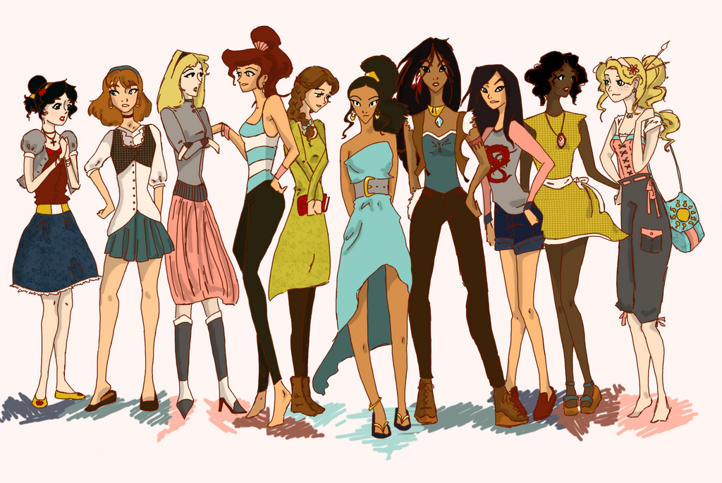 Modern Disney Princesses by Twilight-Kairi