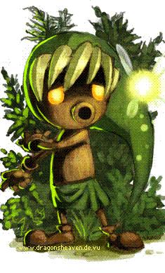 Zelda: Deku Link and Tatl by HylianDragonCatty