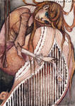 ACEO 19 - Lonely Harp