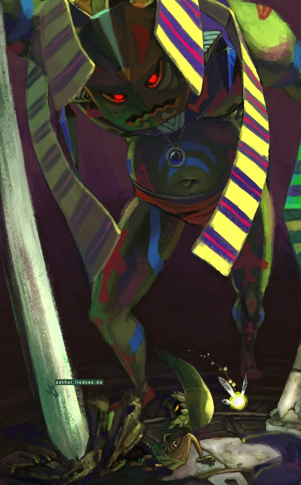 Zelda - Versus Odolwa by HylianDragonCatty
