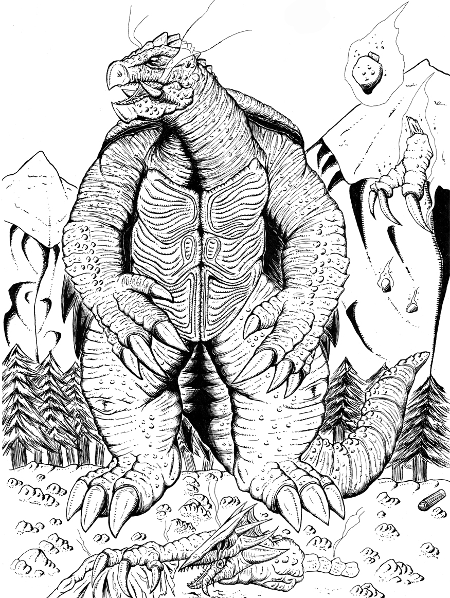 gamera coloring pages - gamera monsters free coloring pages