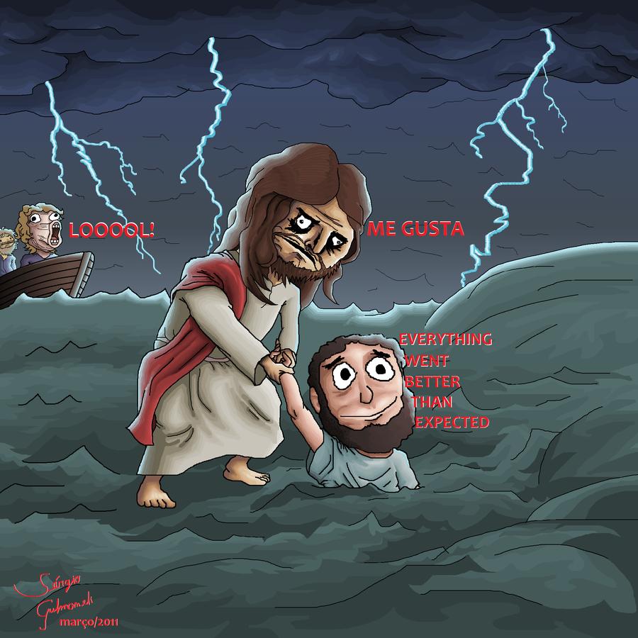 Ms paint jesus meme by zesinxw on deviantart