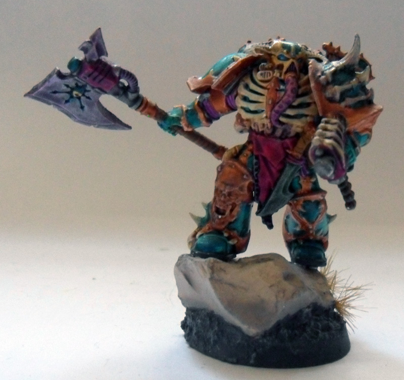 [Divers] Autres figurines : SMC, Eldars, Tyranides et non-GW Chaos_chosen_with_power_axe_by_magegahell-d5wt9w2