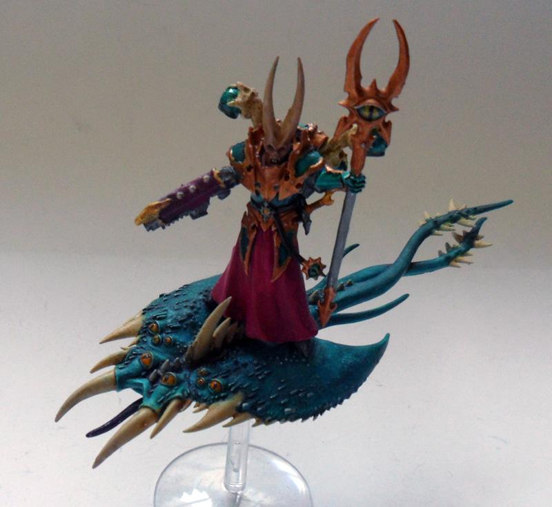 [Divers] Autres figurines : SMC, Eldars, Tyranides et non-GW Chaos_space_marines_sorcerer_on_tzeentch_screamer_by_magegahell-d636gja