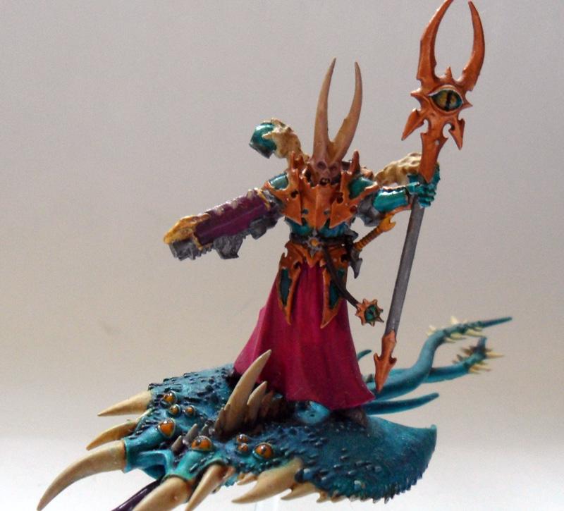 [Divers] Autres figurines : SMC, Eldars, Tyranides et non-GW Chaos_space_marines_sorcerer___tzeentch_screamer_2_by_magegahell-d636h34