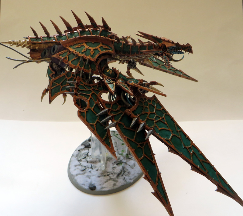 [Divers] Autres figurines : SMC, Eldars, Tyranides et non-GW Chaos_heldrake_03__side_view__by_magegahell-d7naxbf