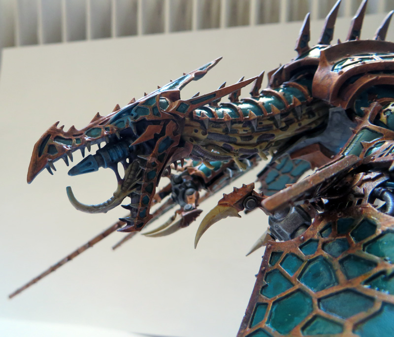 [Divers] Autres figurines : SMC, Eldars, Tyranides et non-GW Chaos_heldrake_05__head__by_magegahell-d7naxuv