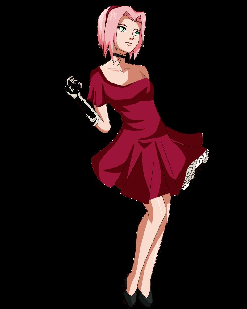 Sakura Haruno Ball Dress Shippuden by kattyy12 on DeviantArt