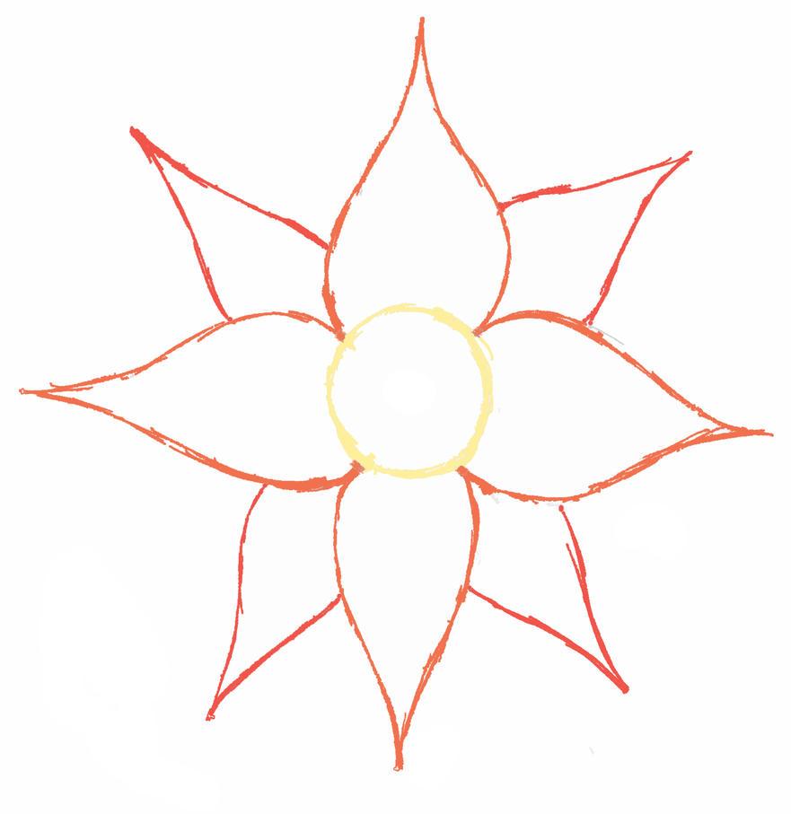 Flower Outline Drawing : Flower outline by contessadelicatessa on deviantart