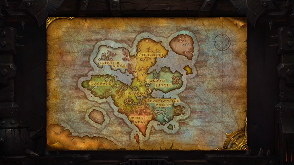 Early Concept Map of Draenor from Blizzcon 2013 by ... on