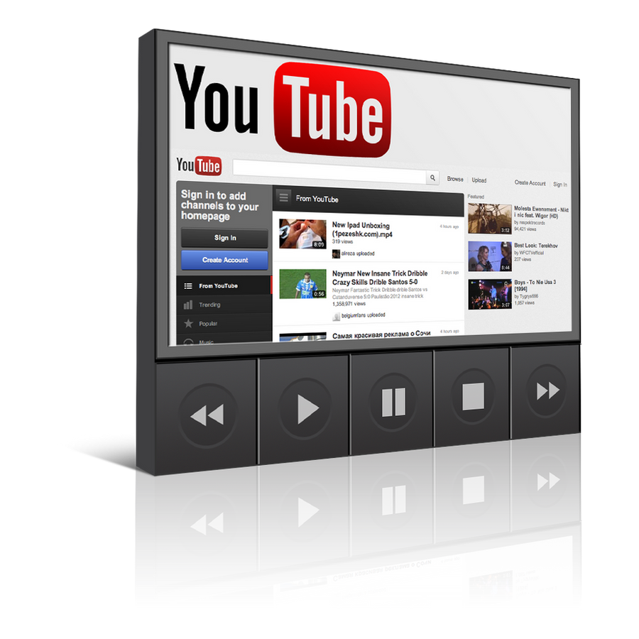 Youtube Icon Png Youtube player icon 1024 xYoutube Player Png