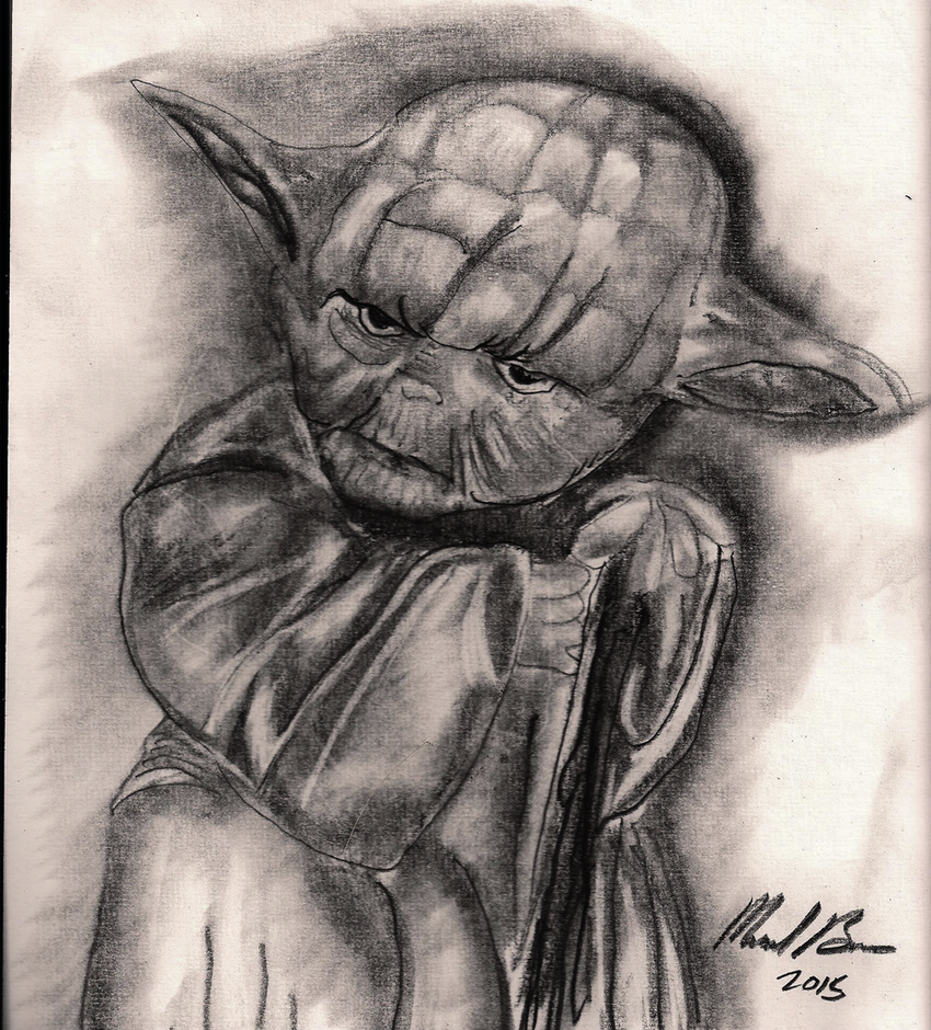 star wars fan art of yoda by baran700