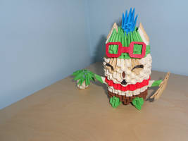 3D-origami League of Legends: Teemo
