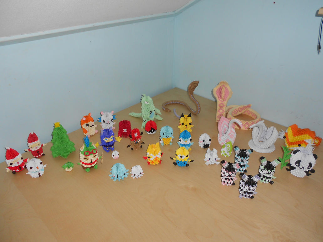 3d origami collection by xfenne on deviantart 3d origami collection by xfenne jeuxipadfo Images