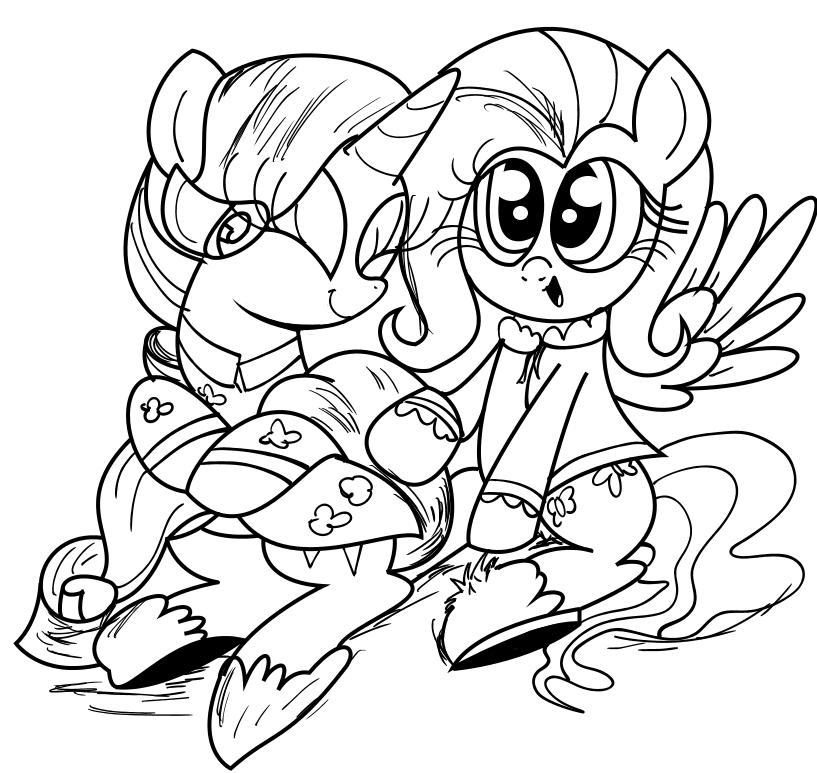 Rarity and Fluttershy by Daniel-SG