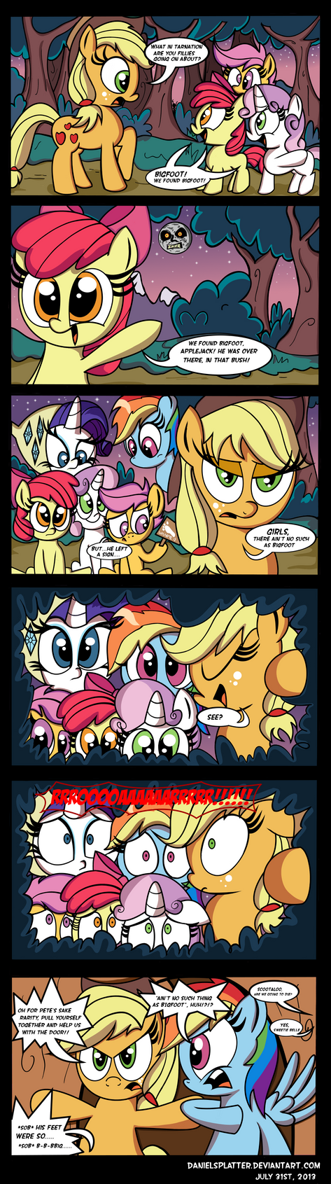 Applejack Vs. Camping (UPDATED) by Daniel-SG