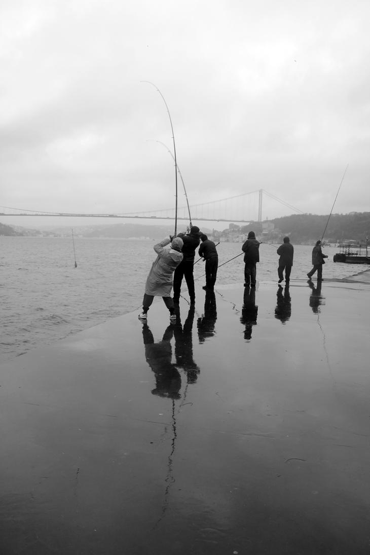 Bosphorus Fishermen by Canankk