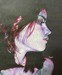 Vanity in Darkness (gel pen art)
