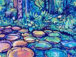 Majestic Rainbow Amazon Lilypads